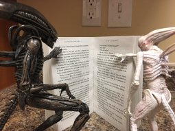 Two buddies enjoying a good book